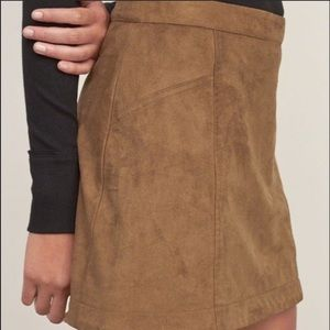 Abercrombie & Fitch Skirts - Abercrombie & Fitch Faux Suede Skirt